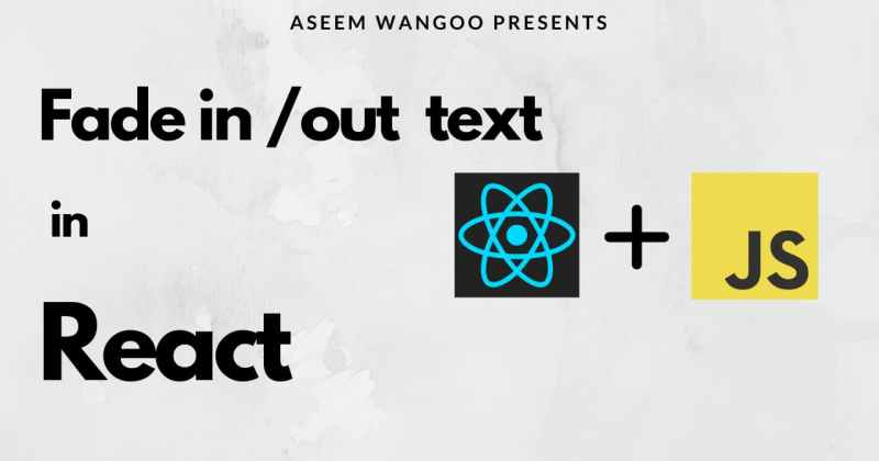 Fade in-out text inreact