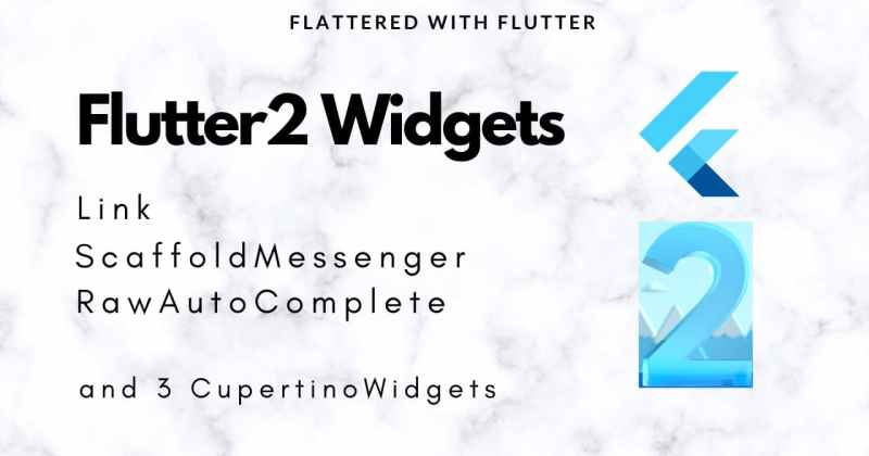 Flutter2 Widgets - Link | RawAutoComplete | CupertinoFormSection