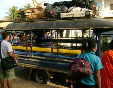 Flat Tire in Laos