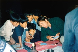Playing Cards with Village Kids