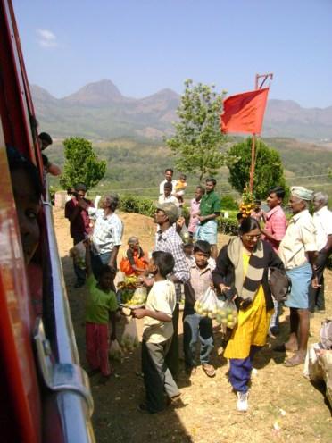 Mountain road to Munnar