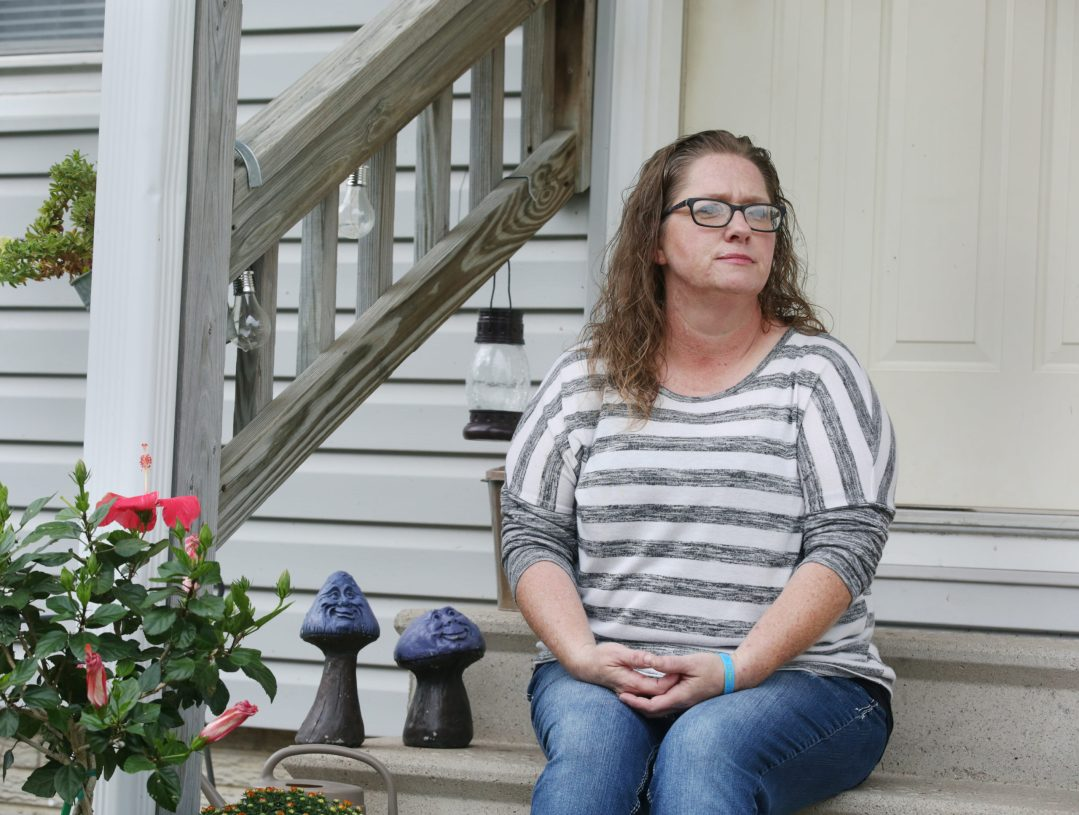 Alison Reents is shown Thursday, Aug. 26 outside at her home in Hastings.