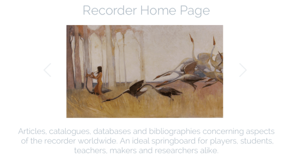 Recorder Home Page