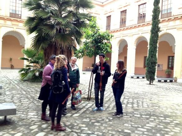 Visita de Bob Marvin a la clase de Flauta de pico del Conservatorio Sup. de Sevilla