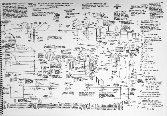 Plano de Fred Morgan de una voice flute de Bressan