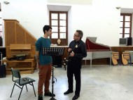Dan Laurin recorder masterclass in Sevilla - Guillermo Sáez