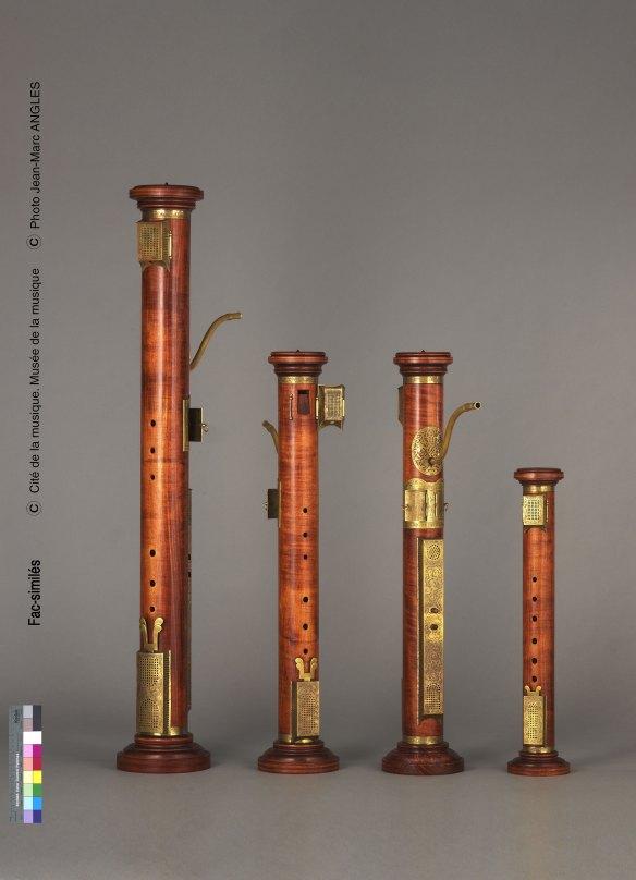 Conjunto de flautas renacentistas de columna de Henri Gohin