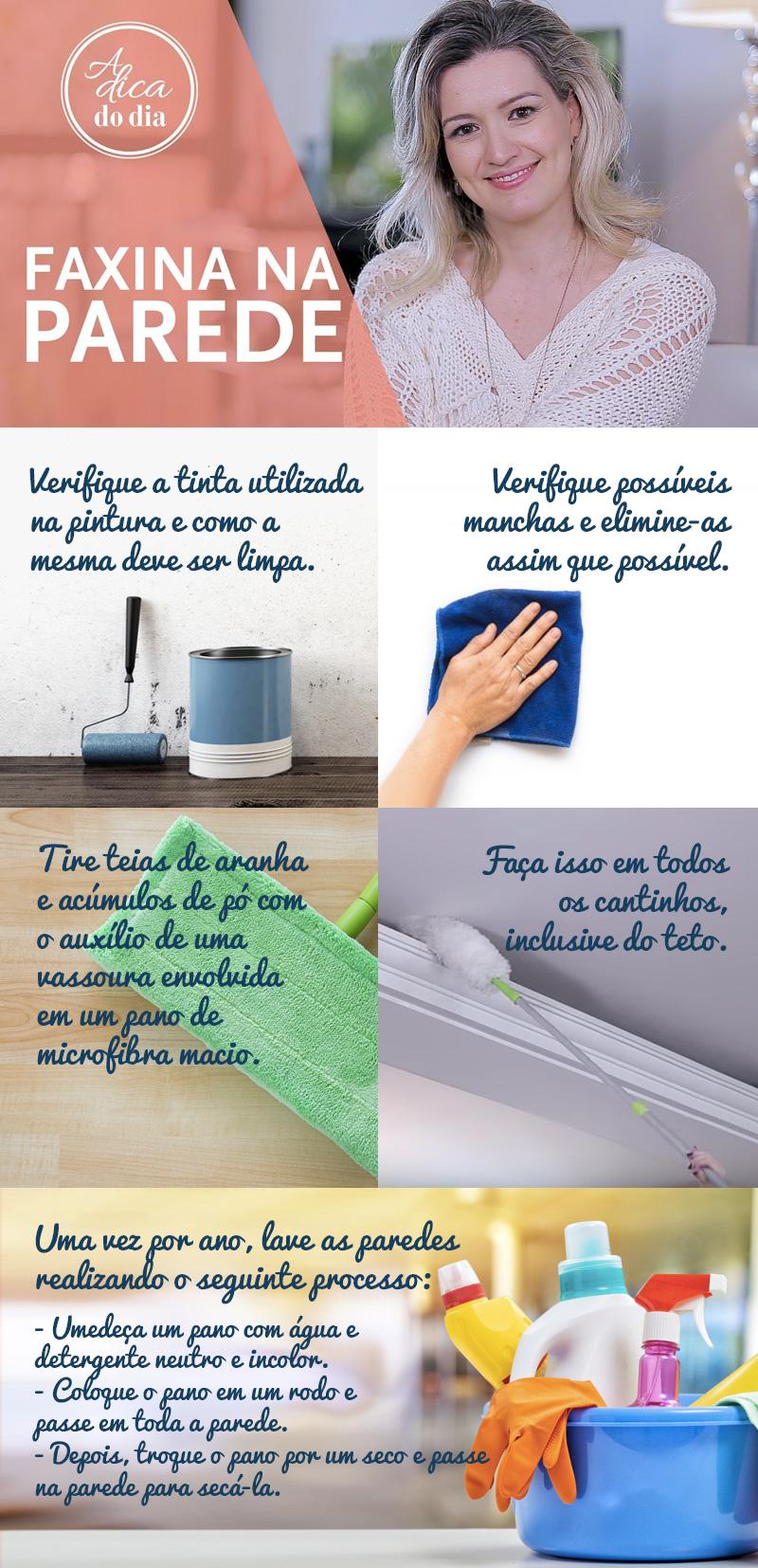 faxina total nas paredes de casa