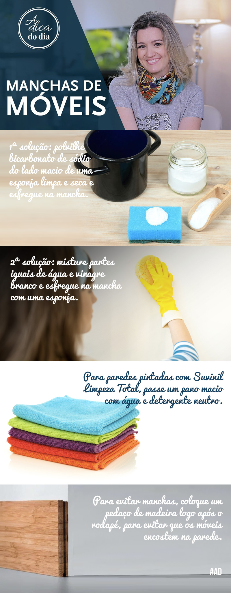 retirar manchas de moveis na parede