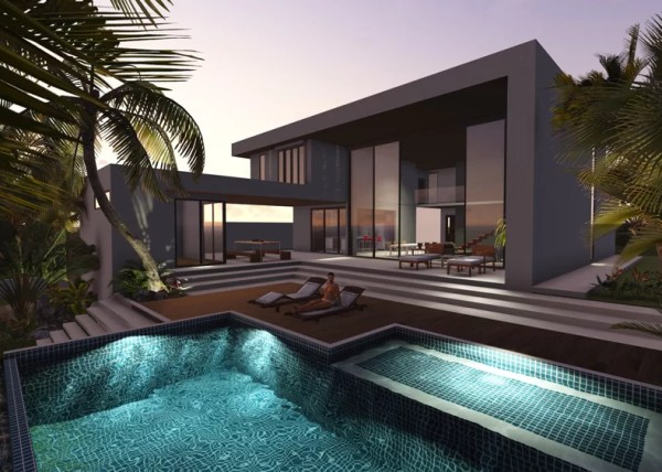 Projeto de Casa em Steel Frame - Sobrado Fachada Contemporanea