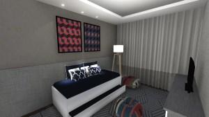 projeto de quarto de hospedes para dois meninos adolescentes