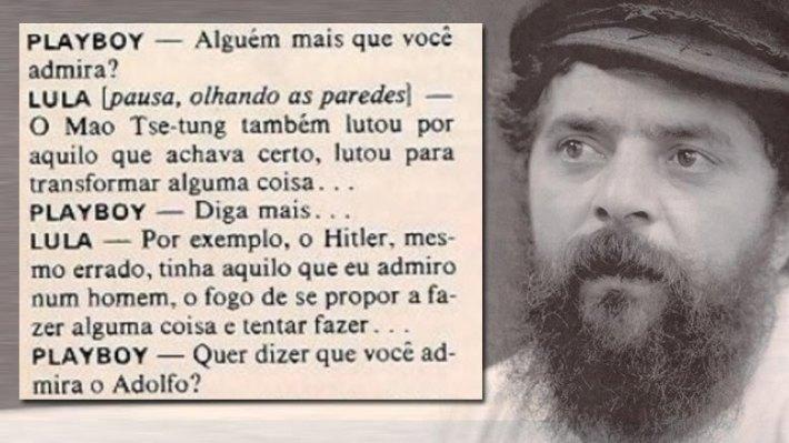 LULA ELOGIAVA ADOLF HITLER E KHOMEINI.