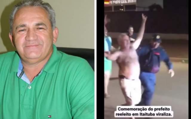Reeleito em Itaituba, prefeito fala em comemorar com cautela e depois é filmado embriagado sem máscara na rua – Blog FLÁVIO PEREIRA