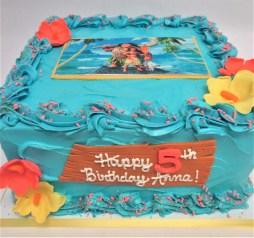moana square edible image cake