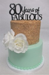 two tier gold sugar cake