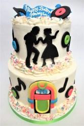 two tier jitterbug juke box cake