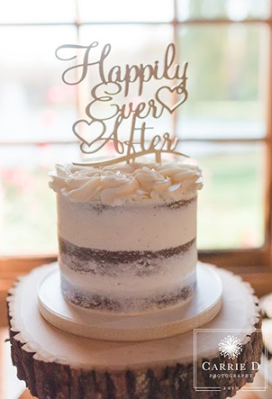 Naked Cake wedding - Carrie D Photography