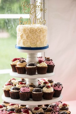 wedding cupcake display - Erin Michelle Photography