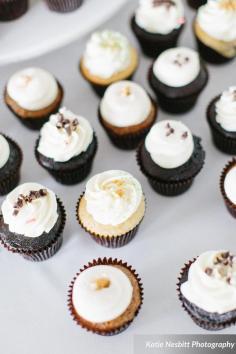 wedding cupcakes by Katie Nesbitt Photography