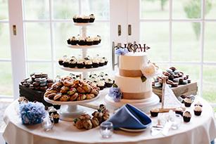 wedding dessert display - Paige Victoria Photography 1