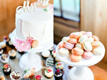 wedding display cake and macarons - Copy