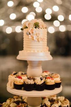 elegant wedding cake display