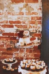 naked caramel drip cake - wedding display 3