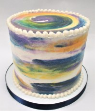 night watercolor cake 2