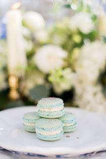 Macarons gold flakes - Lauren Corrigan Events