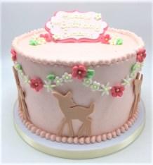 deer and flowers cake