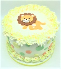 lion baby shower cake