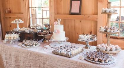wedding dessert display - Carrie D Photography