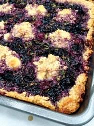 vegan and gluten free blueberry basil cobbler