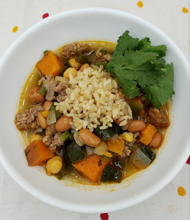 green chili sweet potato stew