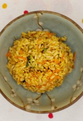 vegan cheesy broccoli rice