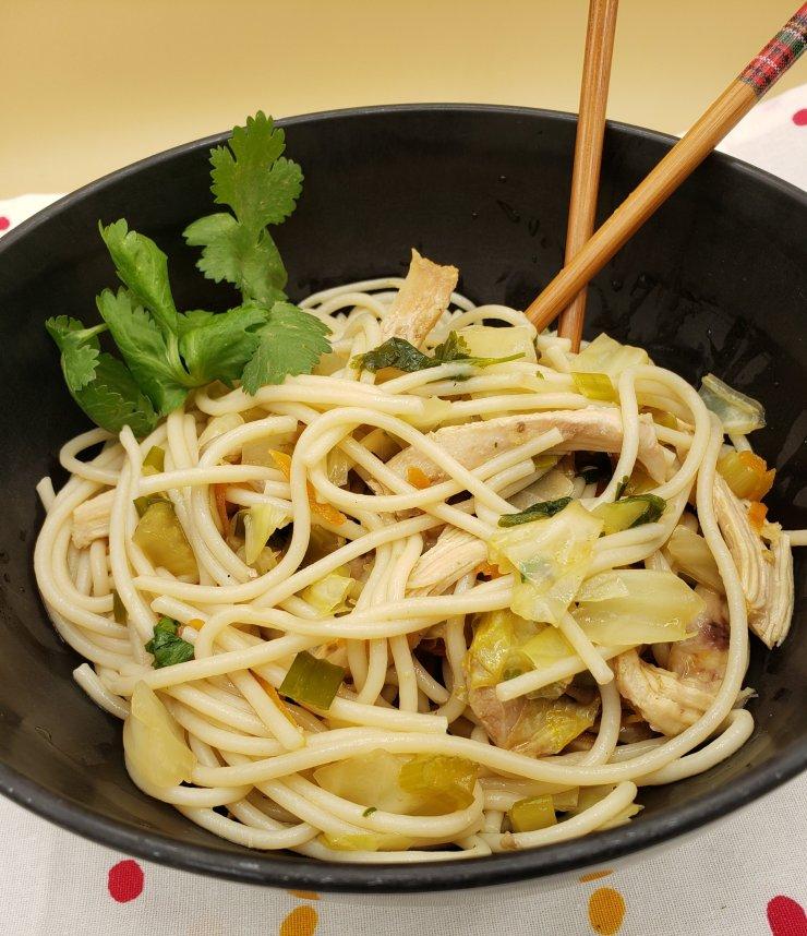 asian style noodles soup