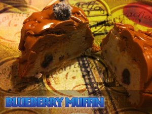 Blueberry muffin with spiked with liquor at Borrachos Drunken Desserts