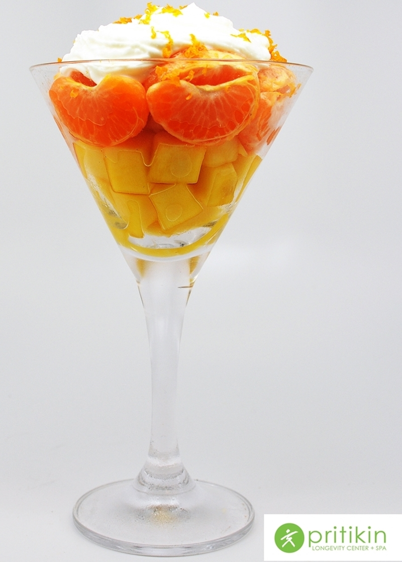 Pritikin Candy Corn Fruit Cup