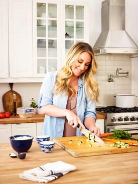 Haylie chopping vegs