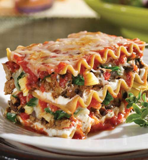 Lasagna with Spinach