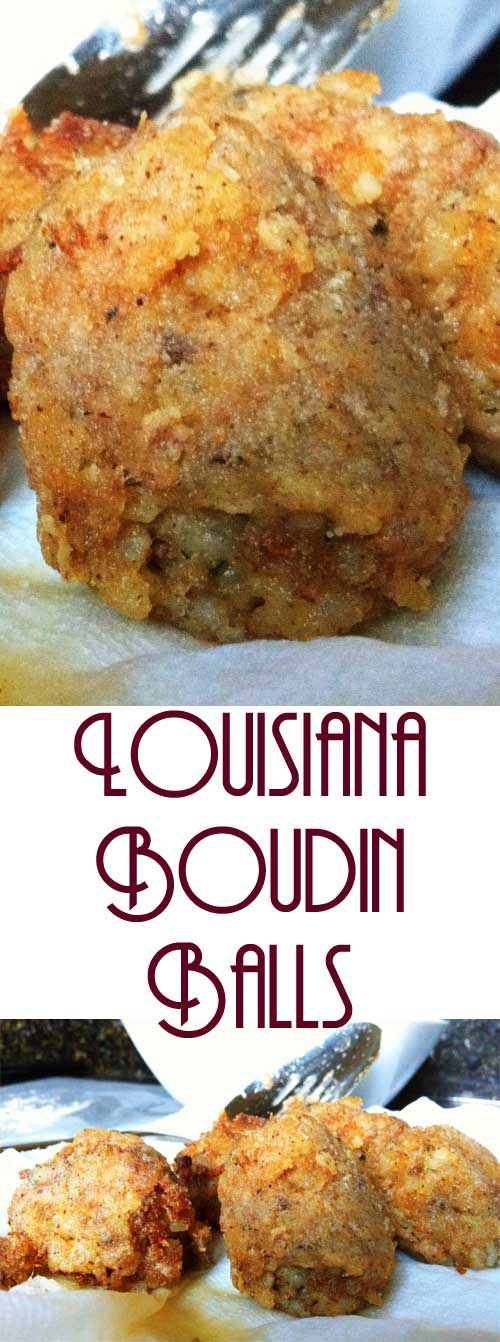 It's one of the most delicious things we have in Louisiana. You can certainly eat it all alone, but these Louisiana Boudin Balls make great appetizers, or they'll work as a side to another dish. #cajunfood #southerncooking #cajunrecipe