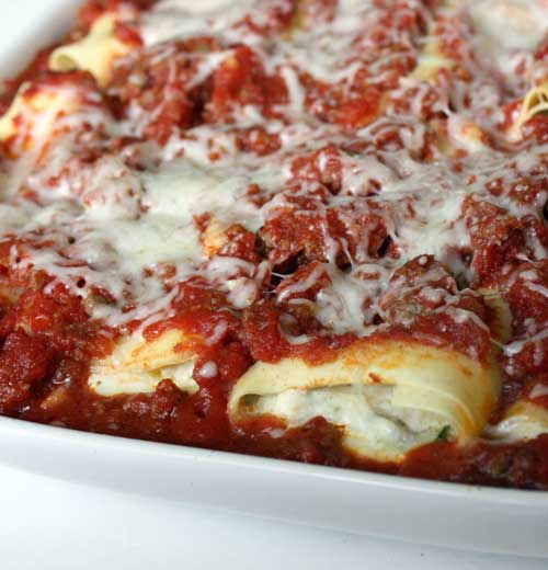 Recipe for Parmesan Chicken Manicotti