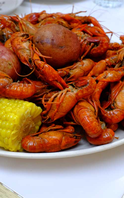 Recipe for New Orleans Crawfish Boil - There are plenty of ways to enjoy crawfish, but if you want to be a purist, getting elbow-deep into some spicy, boiled crawfish is definitely the way to go!