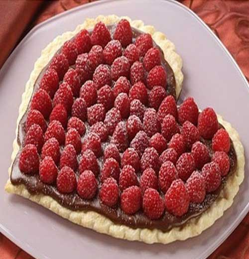 Recipe for Raspberry Chocolate Heart Tart