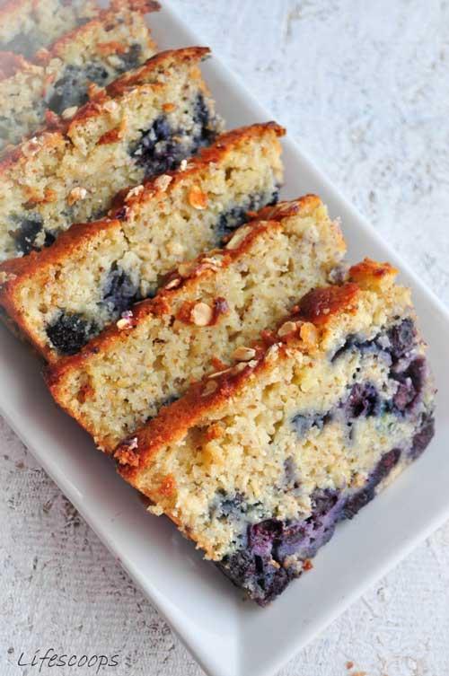 Old Fashion Lemon Blueberry Pudding Cake