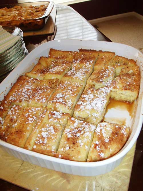 I love this French Toast Bake recipe because it is so easy, economical.. and oh-so-delicious! The best part is that it is made the day before so there is no fuss...perfect for a Sunday afternoon or brunch.