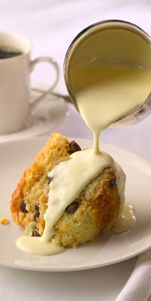 Recipe for Creole Bread Pudding with Irish Whiskey Sauce