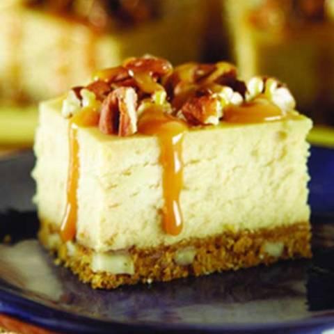 Recipe for Caramel Pecan Cheesecake Squares