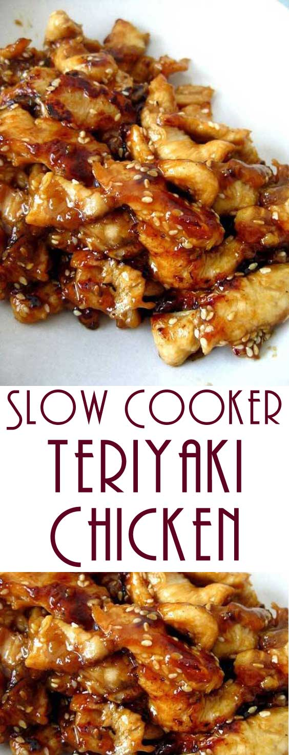 Serve this Slow Cooker Teriyaki Chicken over rice, you don't want any of that delicious, sticky sauce going to waste. #slowcooker #chickenrecipe #slowcookerchicken #dinnerideas