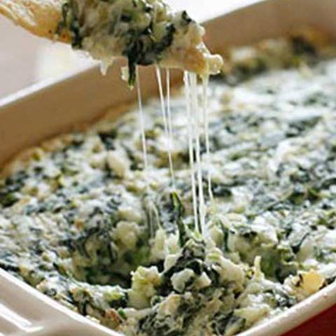 Recipe for Lighter Hot Spinach and Artichoke Dip - This is a well loved dip. This version makes it so you can enjoy more of it!